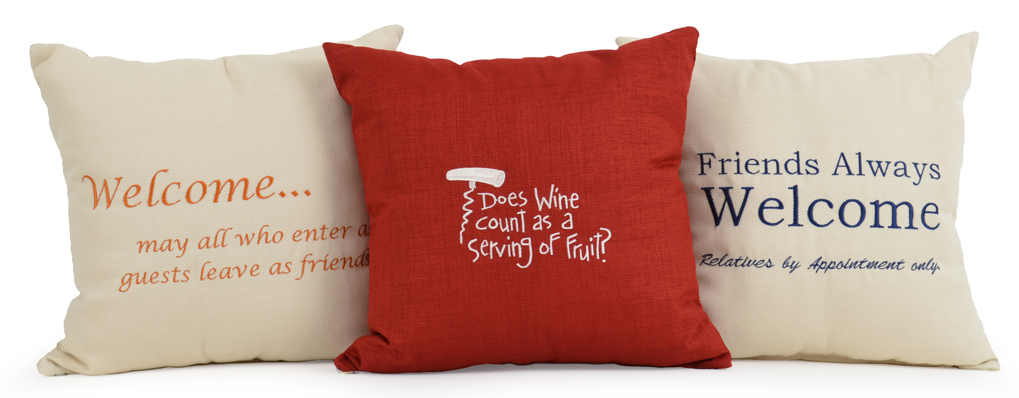 Embroidered Toss Pillows